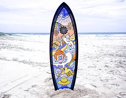 Custom Australian Surfboard Illustration
