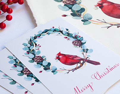 Christmas cards and calendars