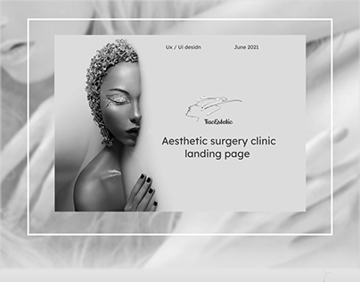 Aesthetic surgery clinic landing page