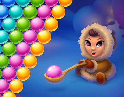 Tasty Winter. Bubble Shooter