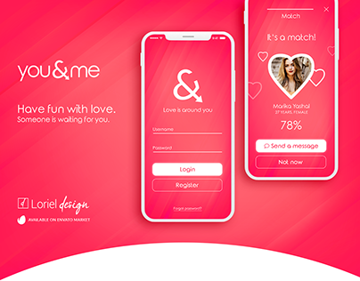 you&me - Dating App Mobile Ui