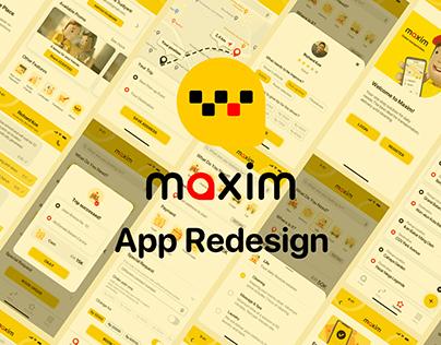 Maxim App Redesign