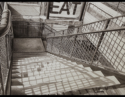 Staircase Observation - 25in x 14in