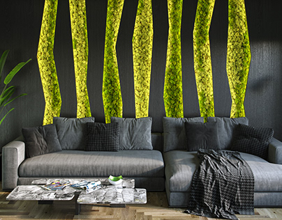Moss-wall
