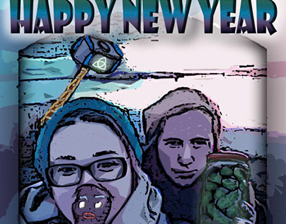 Postcard Design, Happy New Year, Inspiration