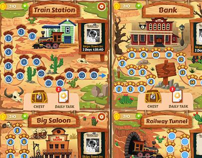Wild West game map