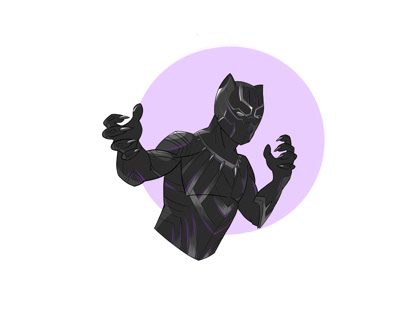 Black Panther, Digital Illustration