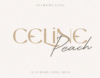FREE | Celine Peach Luxury Font Duo