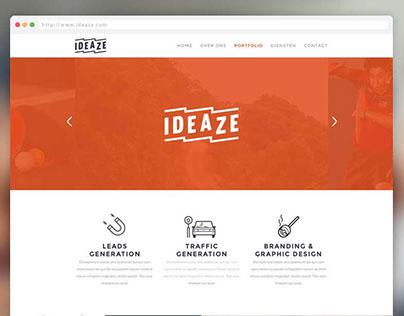 Ideaze | Brand Identity, webdesign