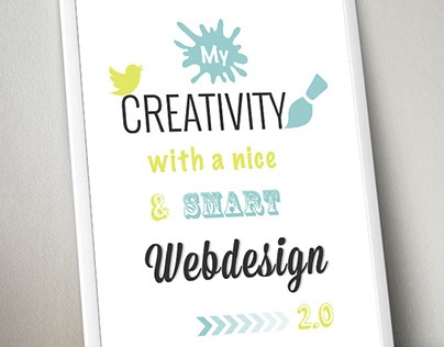 "Poster ""creativity 1"""