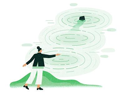 Founders Pledge Brand Illustration Style