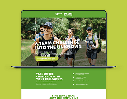 Oxfam Trailwalker | Landing Page