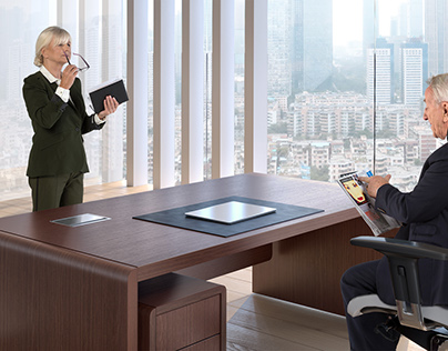 3D Visualizations of Exclusive Office Furniture.