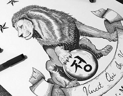 Lion sigil - Pen & ink design