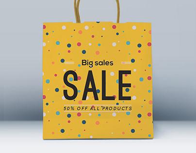 Free Front Shopping Bag Mockup PSD