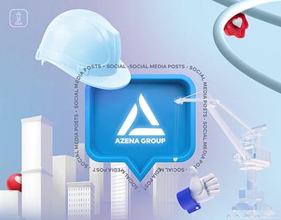 """Azena Construction"" Social Media Posts"