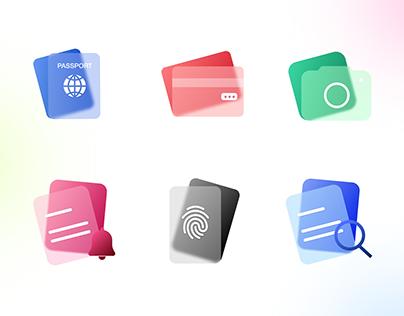 Blur Icons Set