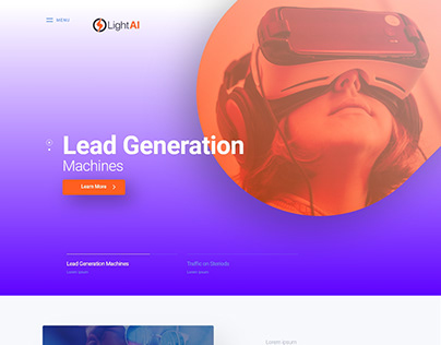 One Page Website Design Lead Generation