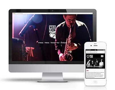 Wild Lion Records Web Design