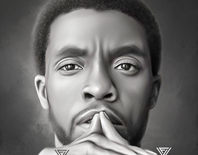 Chadwick Boseman-1 Digital Art by Wayne Flint