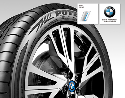 BMW i8 Bridgestone Wheel - Fan Art 3D Model