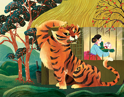 "Storytime Magazine ""Terrible Tiger"" illustrations"