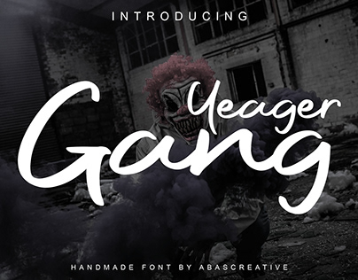 Free Font: Yeager Gang