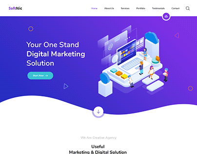 Startup Digital Agency Landing Page