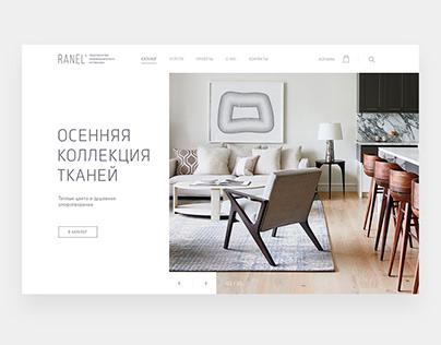 RANEL - WEB UI/UX DESIGN