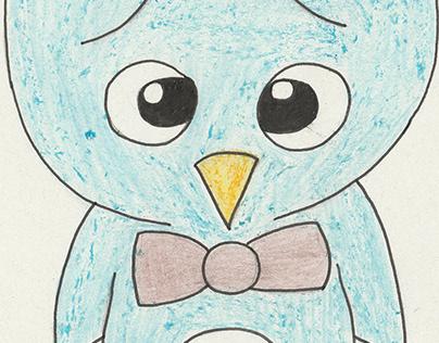 My hand drawn images - Cartoon Penguin