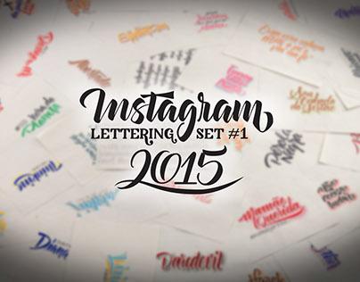 Instagram Lettering Set #1 | 2015