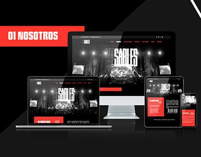 Diseño de Página Web Informativa para 70 Sables