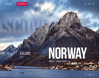 Travel agency website concept /case study