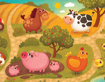 """Funny Farm"" (tactile puzzles for toddlers)"