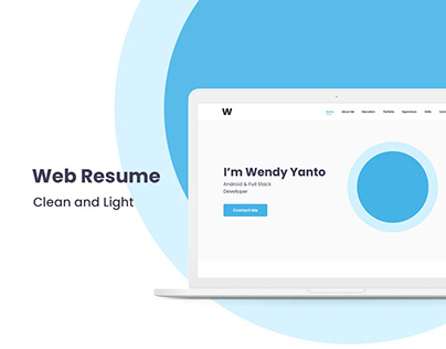 Clean and Light Web Resume Design