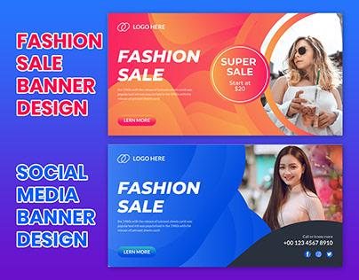 Fashion sale social media banner ,Web banner design.