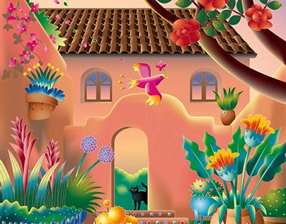 Cover illustration (Kimiko Umekawa) Adobe Illustrator