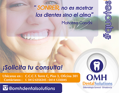 Frases OMH Dental Solutions #quotesOMH
