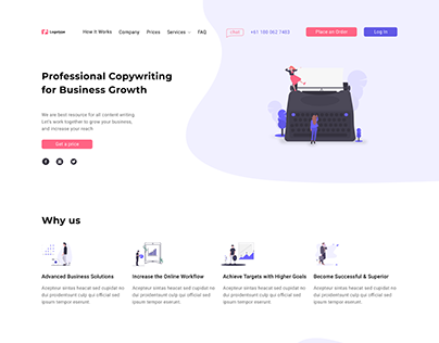 Copywriting web design. Graphic design.