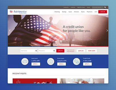 SafeAmerica Credit Union Website