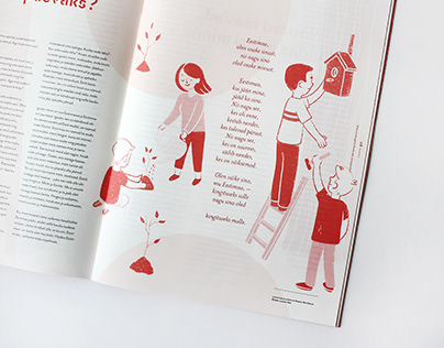 Illustrations for Mihus magazine