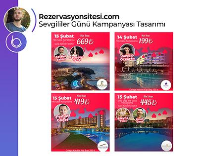 Rezervasyonsitesi.com Sosyal Medya Çalışmaları.