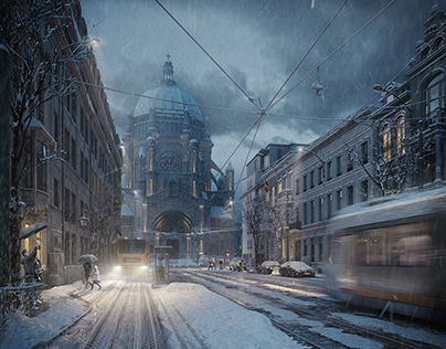 Winter in Brussels - Project with HDR 381