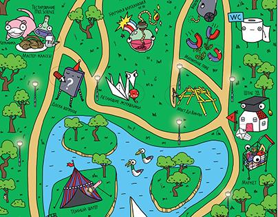 Карта научного фестиваля для Университета Детей