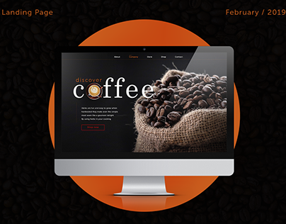 Do you like coffee? Landing Page