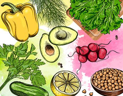 Vegan Illustration