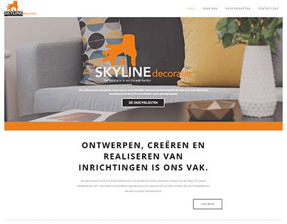 Skyline decoratie website (Wordpress)