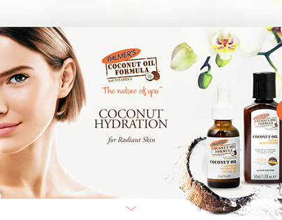 New Line of Face Care Products. Landing page.