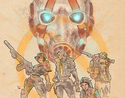 Borderlands alternative poster illustration