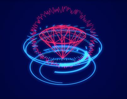 3D modelling experiment: HUD Neon Diamond